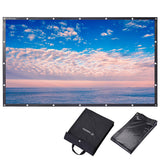 "100"" 16:9 Portable Front Projection Screen Foldable PVC 3D 4K HD"