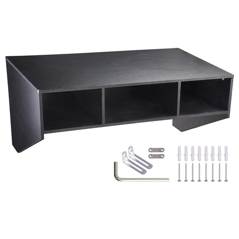 Wall Mounted Floating Desk Home Office Furniture Black