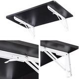 "23 5/8"" x 15 3/4""Wall Mounted Floating Folding Computer Desk Black"