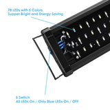 "24"" Multi-Color 78 LED Aquarium Light for 24-35inches Freshwater"