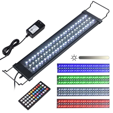 AquaBasik Aquarium LED Light with Timer Dimmable Lamp Remote Control Fish Tank