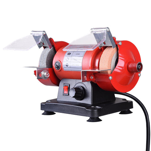 "3"" Mini Bench Grinder with Flex Shaft Variable Speed Grinding Stone"