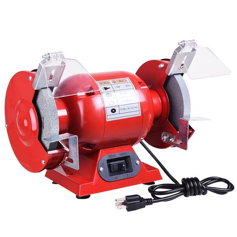"6"" Bench Grinder 1/2 HP 3450 RPM with Tool Rests Eye Shields 1/2"""