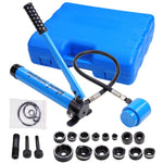 9 Ton 6 Dies Hydraulic Knockout Punch Driver Kit Hand Pump Hole Tool