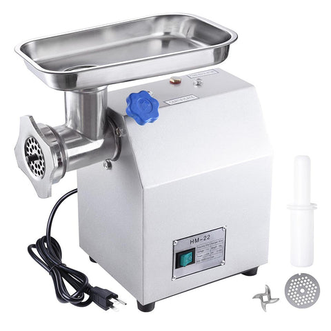 1100W Electric Meat Grinder Mincer 210r/min 485lbs/h w/ Cutting Blade