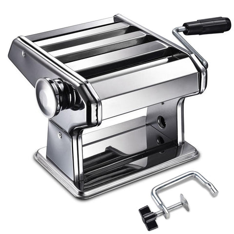 WeChef Pasta Maker Machine 3 Cutters Noodle Roller Press Stainless Steel Manual