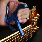 Blue Quick Change Key Capo For Acoustic Classical Electric Guitar