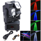 8x10W 4in1 Double Wheel LED Rotating Moving Head Light RGBW DMX Stage