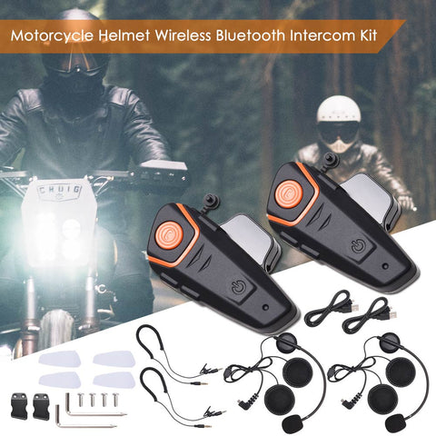 Bluetooth Headphone Motorcycle Bike Helmet Intercom Interphone