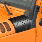 2Pcs ABS Cowl Body Armor Cowl Cover for 07-16 Jeep Wrangler Diamond