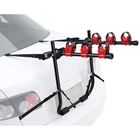 3 Bike Bicycle Carrier Car Truck SUV Foldable Trunk Mount Rear Rack