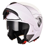 Full Face Flip up Modular Motorcycle Helmet DOT Approved White M
