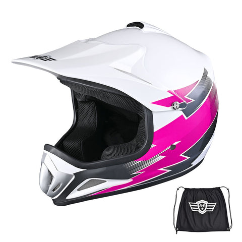 AHR H-VEN12 Off Road Helmet DOT Dirt Bike Motocross MX ATV for Youth Unisex Kid