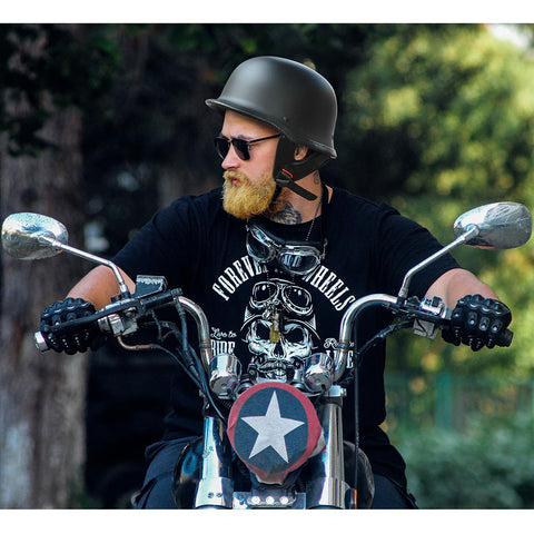 Motorcycle Chopper Helmet DOT Half Face German Style XS