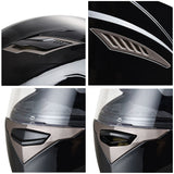 Motorcycle Full Face Helmet Dual Visors Lightweight ABS Air Vent