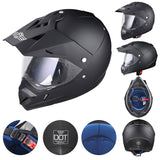 AHR Offroad Helmet DOT Full Face Dirt Bike Black XL