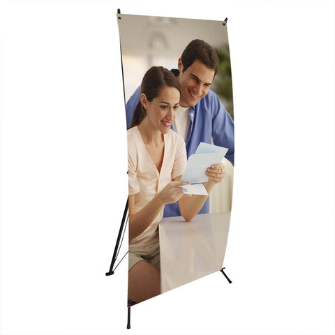 "24""x63"" X Banner Display Stand Tripod Trade Show Exhibit Fair"