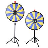 "24"" Prize Wheel w/ LED Lights Floor Stand Fortune Spin Game Tradeshow"