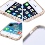 Ultra-thin Aluminum Metal Bumper Case Clear Back Cover For Apple