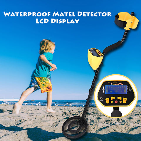 Waterproof Metal Detector Gold Digger Treasure Hunter with LCD Display