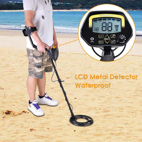 LCD Display Waterproof Metal Detector Gold Digger Treasure Hunter