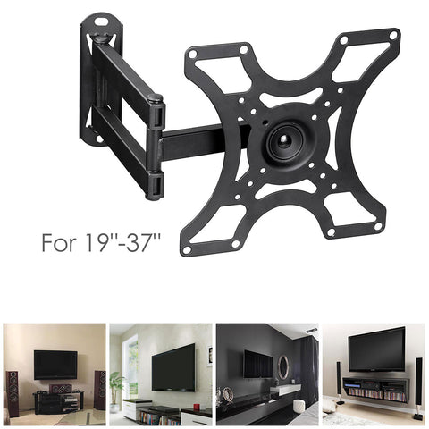 "TV Monitor Wall Mount Bracket Swivel Articulating Arms for 19""-37"""