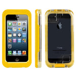 Yellow Waterproof Phone Case Dirt Proof Durable Protective Cover
