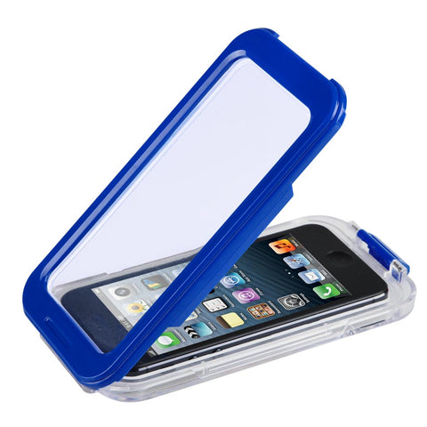 Blue Waterproof Phone Case Dirt Proof Durable Protective Cover