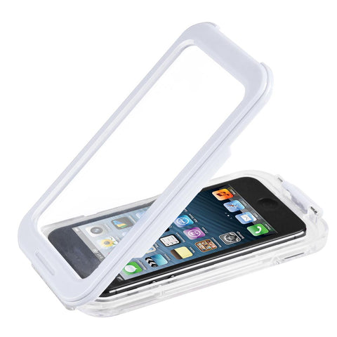 White Waterproof Phone Case Dirt Proof Durable Protective Cover
