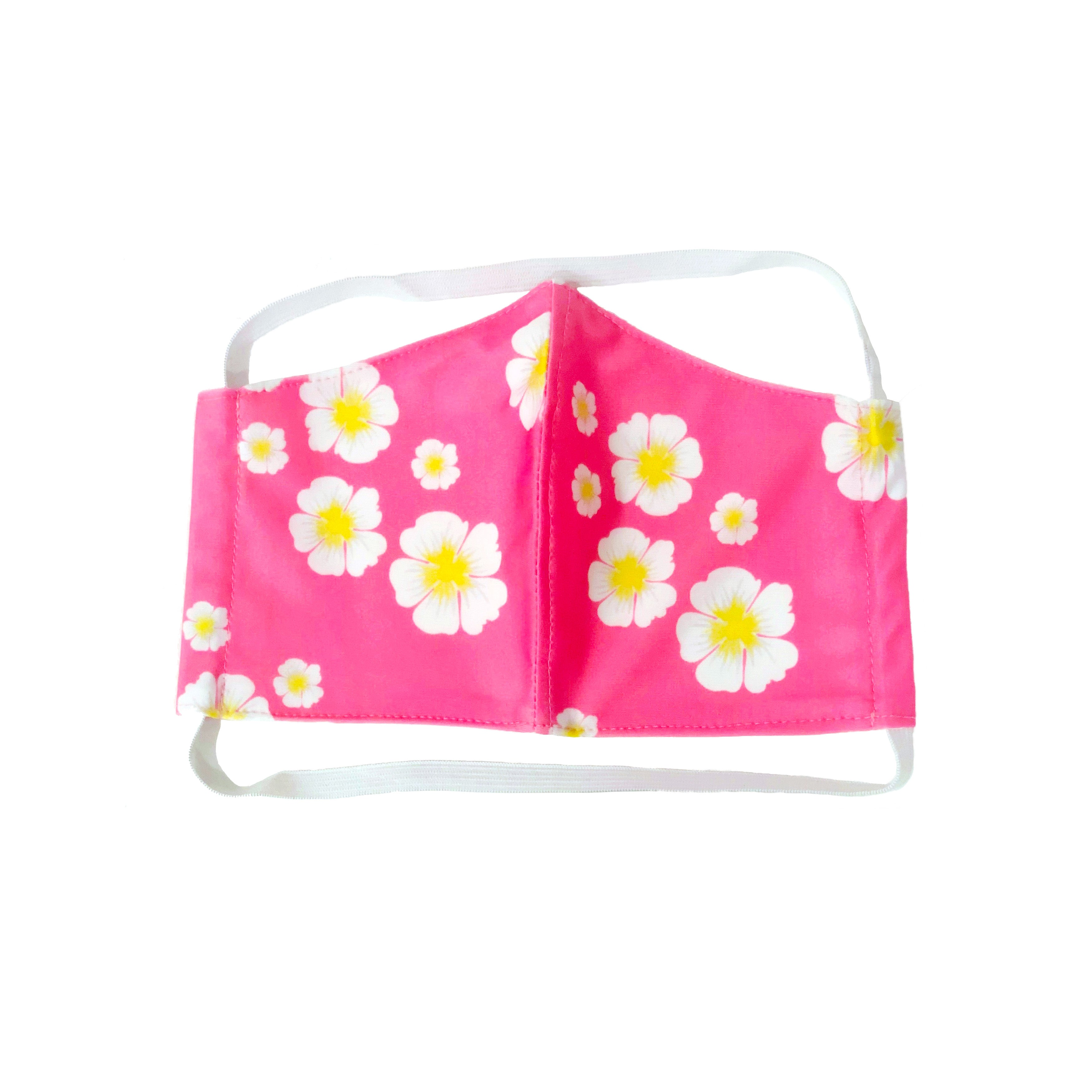 FACE MASK PINK FLORAL PRINT WITH FILTER