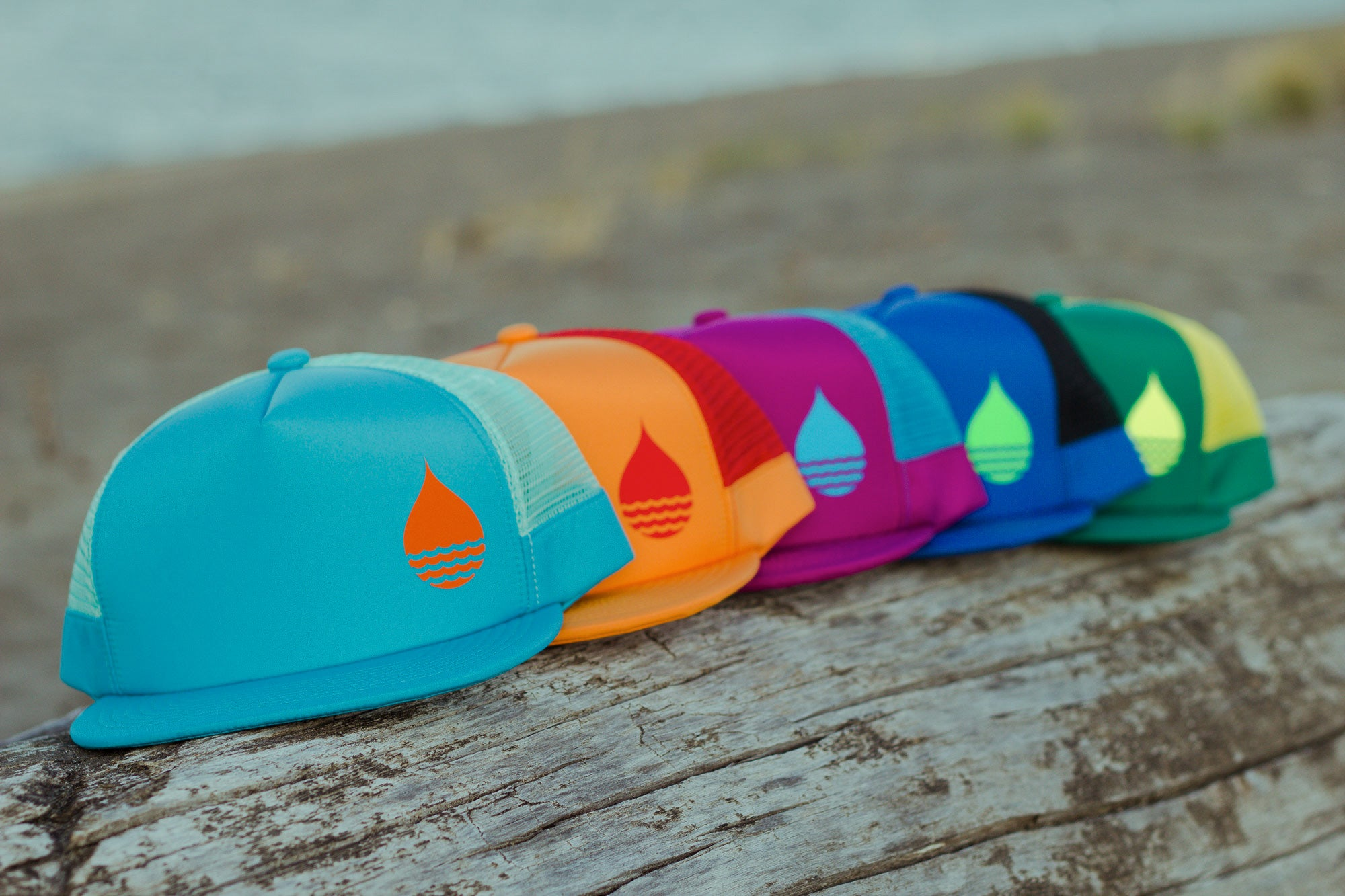 BUOY WEAR's new floating hat collection on the beach