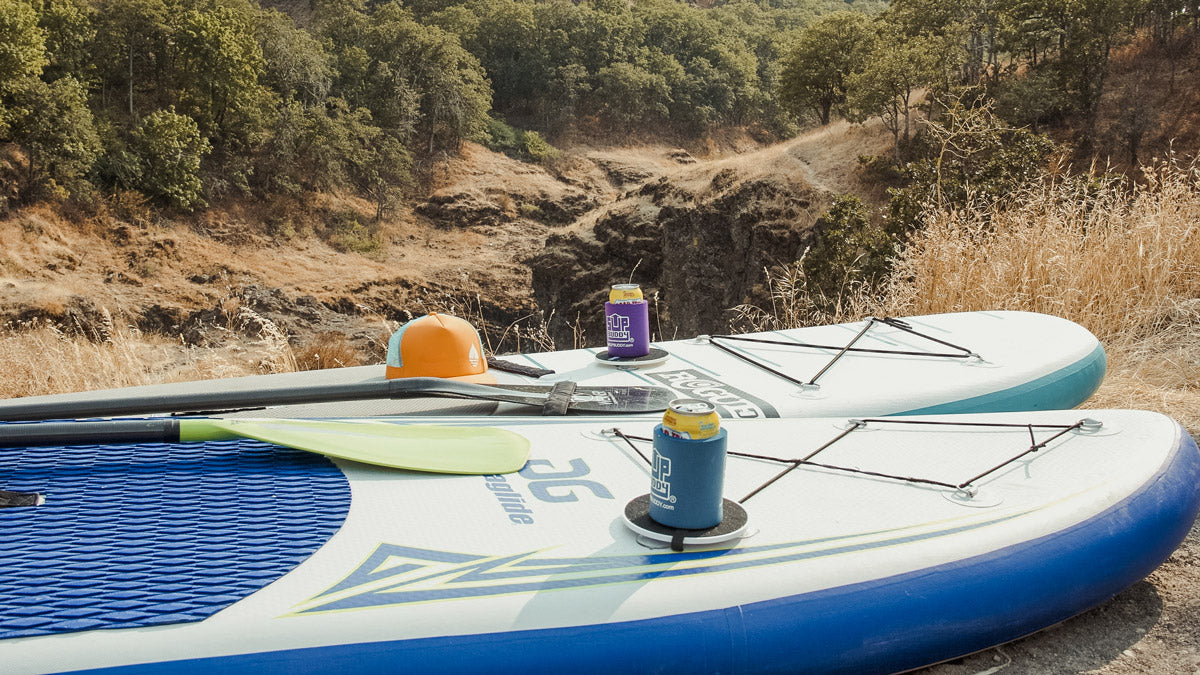 Stand Up Paddleboards with a BUOY floating hat and SUPBUDDY's