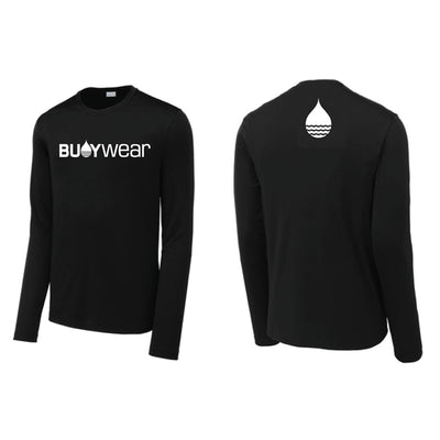 Black High Performance Long Sleeve Rash Guard by BUOY WEAR