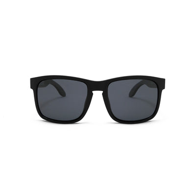 Black Matte Polarized Floating Sunglasses Smoke, Front - BUOY WEAR