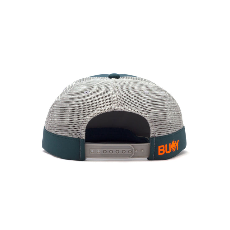 Dark Teal Limited Edition Floating, Waterproof Trucker Hat with Snapback, Back - BUOY WEAR