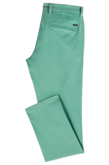 Hugo Boss Shino Slim Cotton Chino - Green