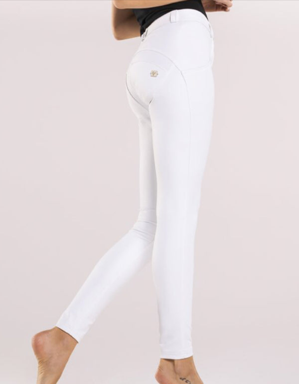 White Leather effect Midrise Freddy Jeans