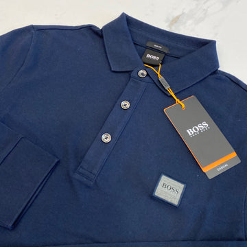Hugo Boss Passerby Navy Long Sleeve Polo
