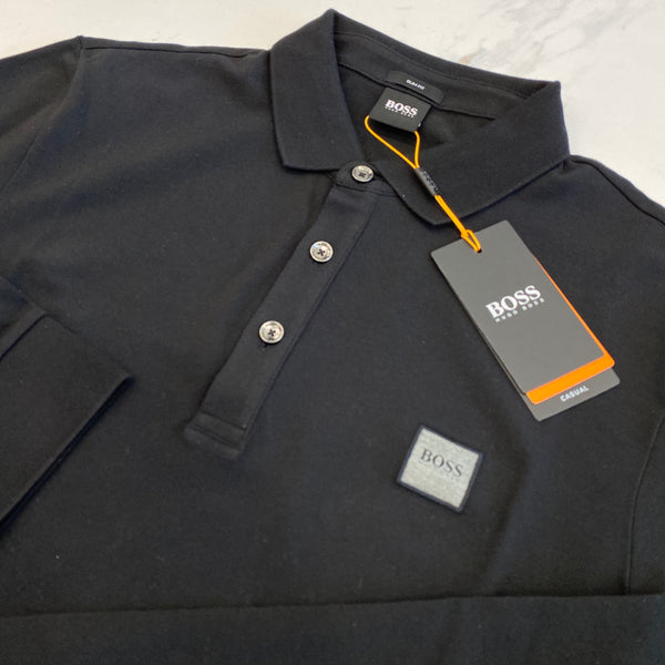 Hugo Boss Passerby Black Long Sleeve Polo