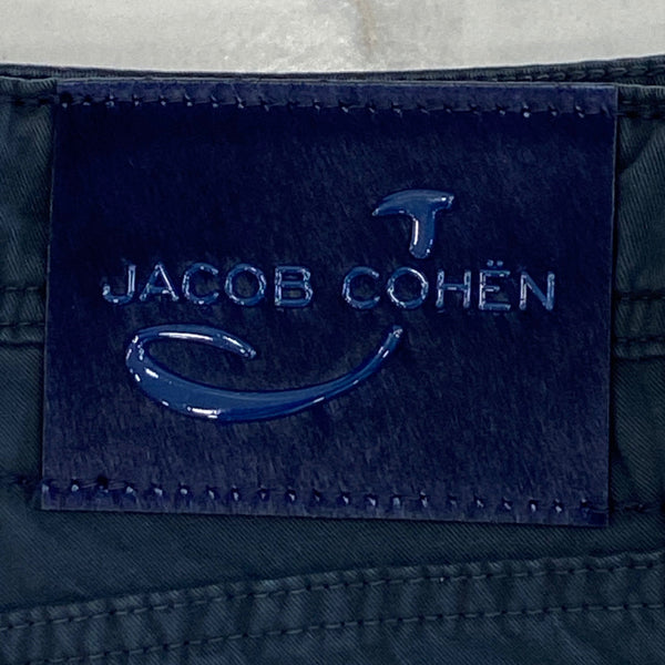 Jacob Cohen Navy Cotton with Navy Ponyskin Badge