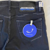 Jacob Cohen Black Denim with Black Ponyskin Badge