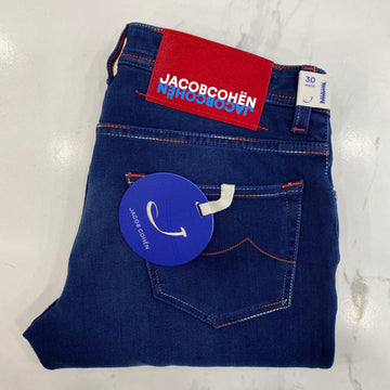 Jacob Cohen Blue Denim with Red Ponyskin Badge
