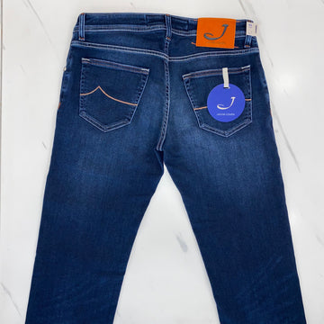 Jacob Cohen Denim with Orange and Navy Badge