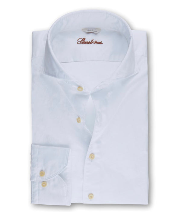 Stenstroms White Casual Slimline Shirt