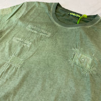 Shockly Khaki Distressed T-Shirt