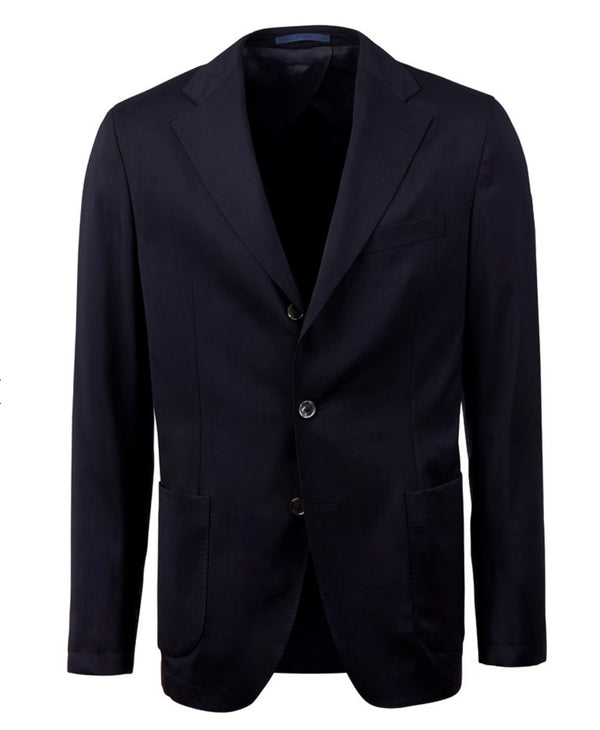 Stenstroms Navy Travel Wool Blazer