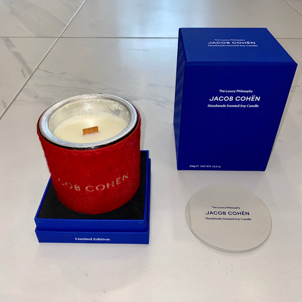 Red Jacob Cohen Handmade Scented Soy Candle