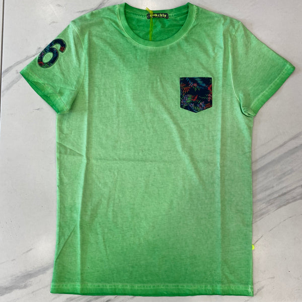 Shockly Green Pocket T-Shirt