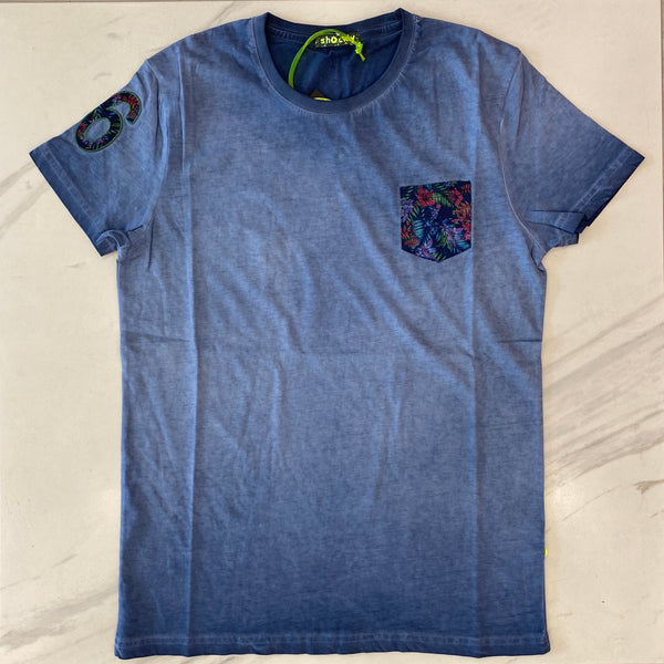Shockly Blue Pocket T-Shirt