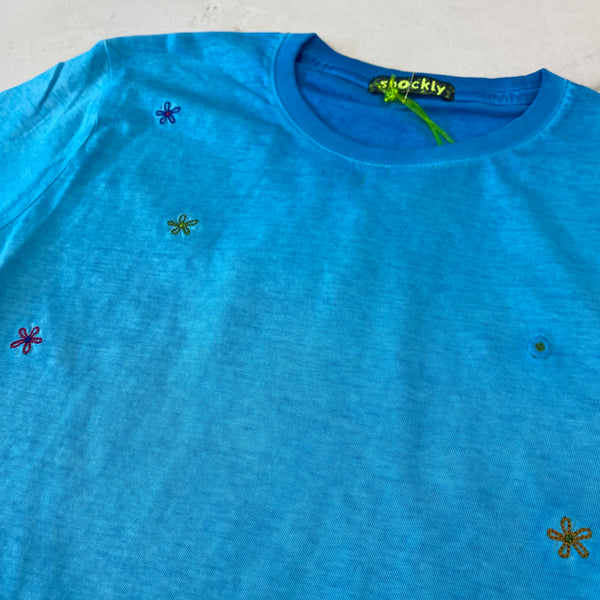 Shockly Turquoise Flower T-Shirt